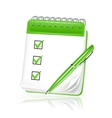 Spiral notebook icon vector image