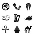spiritualistic icons set simple style vector image vector image