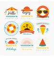 summer badge design vector image vector image