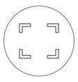 symbol full screen icon black color in circle vector image