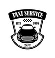 Taxi service emblem design element for logo label