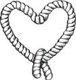 tied rope vector image vector image