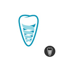 tooth implant logo teeth outline symbol vector image