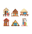 traditional beach houses flat vector image vector image