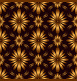 vintage geometric flowers seamless pattern golden vector image