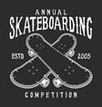 vintage skateboarding logo vector image vector image