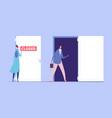 woman discrimination concept business vector image vector image