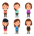 women avatars in different outfits vector image