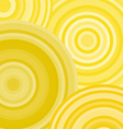Yellow ripples circles abstract geometric vector image vector image