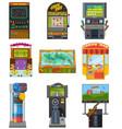 game machine arcade gambling games hunting vector image