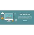 Social media concept banner vector image