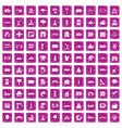 100 landscape element icons set grunge pink vector image vector image