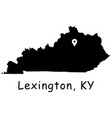 1320 lexington ky on kentucky state map vector image vector image