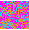 Abstract blue orange and pink moire acid pattern vector image vector image