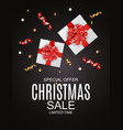 abstract christmas sale special offer background vector image vector image