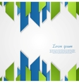 Abstract green blue tech shapes design vector image vector image