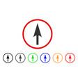 arrow axis y rounded icon vector image vector image