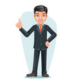 asian businessman chinese japanese vietnamese male vector image vector image