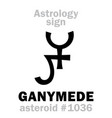 astrology asteroid ganymed vector image vector image