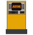 Bank machine vector image