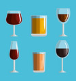 best whiskey set cups vector image vector image