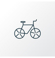 bicycle icon line symbol premium quality isolated vector image