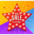 Big Sale banner on colorful background vector image vector image