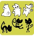 Black and White Cats - set vector image vector image