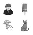 breed builder and other monochrome icon in vector image vector image