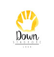 bright logo with child hand for medical down vector image vector image
