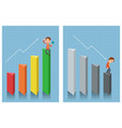 businessman looking at chart vector image vector image