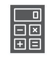 calculator glyph icon office and work vector image vector image