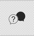 chat question icon isolated on transparent vector image vector image
