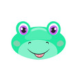 cute frog face or mask vector image vector image