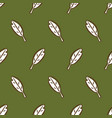 Cute leaves seamless pattern