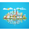 Dirrefent world famous sights Around the world vector image vector image