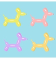 Dog balloon animal set of four Flat design vector image vector image