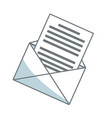 email envelope message communication web icon vector image vector image
