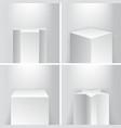 empty geometrical product showroom base podium vector image