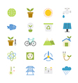 Environmental and Green Energy Flat Icons color vector image vector image