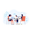 family with gadgets network concept mom vector image vector image