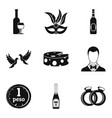 fizzy drink icons set simple style vector image vector image