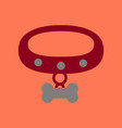 flat icon on background dog collar vector image