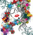 floral woman's face vector image vector image