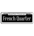 french quarter vector image vector image
