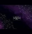 geometric dark purple polygonal background vector image vector image