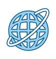 global internet updating vector image vector image