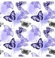 hand drawn butterflies vector image