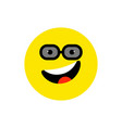 happy face smiling emoji with open mouth and vector image vector image