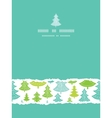 Holiday Christmas trees vertical torn seamless vector image vector image